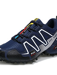 Running Shoes Men's Athletic Shoes Comfort Light Soles Tulle Summer Fall Athletic Outdoor Flat Heel Black/Red Gray Dark Blue