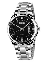 cheap -SKMEI Men's Quartz Wrist Watch Stainless Steel Band Fashion Silver