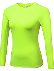 cheap -Women's Running Baselayer Long Sleeves Breathability Lightweight Stretchy T-shirt Sweatshirt Top for Running/Jogging Cycling Exercise &