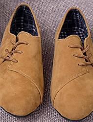 Damen Schuhe Leder PU Frühling Komfort Flache Schuhe Für Normal Schwarz Beige Gelb Rot
