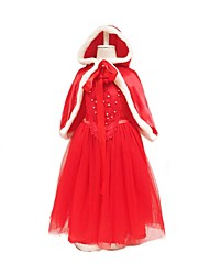 cheap -Little Red Riding Hood Cosplay Costume Masquerade Kids Girls Halloween Carnival Children's Day Festival / Holiday Halloween Costumes Red
