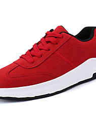 cheap -Men's Shoes Fleece Spring Fall Comfort Athletic Shoes Running Shoes Lace-up For Casual Outdoor White Black Red