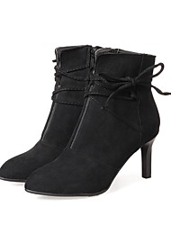 cheap -Women's Heels Fashion Boots Synthetic Microfiber PU Fall Winter Wedding Casual Office & Career Party & Evening Dress Stiletto HeelKhaki
