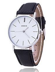 abordables -Hombre Reloj creativo único Reloj de Pulsera Reloj de Moda Reloj Casual Chino Cuarzo Gran venta PU Banda Casual Elegant Negro Blanco