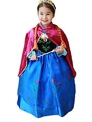 cheap -Princess Fairytale Anna Cosplay Costume Party Costume Kid's Christmas Halloween Children's Day Festival / Holiday Halloween Costumes Blue