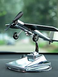 baratos -Diy ornamentos automotivos ornamentos de avião solar carro criativo avião modelo carro pingente&Ornamentos de metal