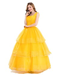 One-Piece/Dress Cosplay Costumes Princess Movie Cosplay Dress Halloween Carnival Female Adults' Terylene Elastane Tactel
