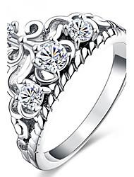 baratos -Mulheres Encaixe do Anel Anel Anéis Grossos Zircônia Cubica Gema Personalizada Luxo Original Básico Amizade Estilo simples Durável EUA