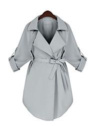 preiswerte -Damen - Solide Anspruchsvoll Arbeit Übergrössen Mantel / Capes Baumwolle