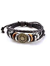 Муж. Жен. Кожаные браслеты Бижутерия Базовый дизайн Панк Хип-хоп Ручная работа Готика Pоскошные ювелирные изделия бижутерия Кожа Круглый