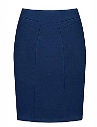 cheap -Women's Work Pencil Skirts - Solid