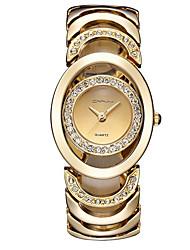 abordables -Mujer Reloj de Moda Cuarzo Gran venta Aleación Banda Casual Plata Dorado Oro Rosa