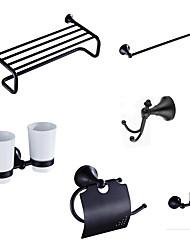 Bathroom Accessory Set Towel Bar Toilet Paper Holder Robe Hook  Soap Dish  Shower Basket Oil Rubbed Bronze 01