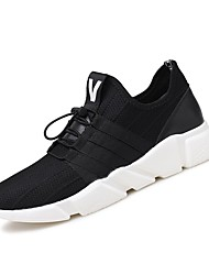 cheap -Running Shoes Men's Athletic Shoes Comfort Breathable Mesh Fabric Tulle Fall Winter Athletic Outdoor  Comfort Lace-up Flat Heel Gray Black Flat