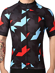 cheap -FUALRNY® Men's Short Sleeves Cycling Jersey Bike Jersey, Quick Dry