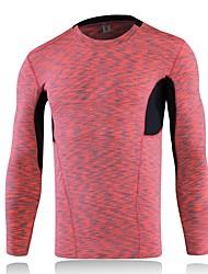 Homens Camiseta de Corrida Manga Longa Fitness, Corrida e Yoga Roupas de Compressão Blusas para Correr Ioga Exercício e Atividade Física