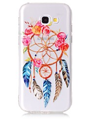 Case For Samsung Galaxy A3 (2017) A5 (2017) Case Cover Wind Chimes Pattern Feel Varnish Relief High Penetration TPU Material Phone Case