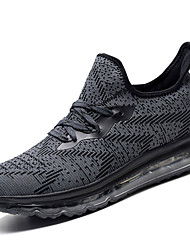 cheap -Men's Athletic Shoes Running Comfort Knit Fabric Tulle Fall Winter Athletic Casual Outdoor Lace-up Low Heel Blue Dark Grey Gray Under 1in