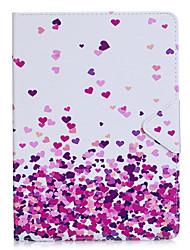 Étui pour ipad air 2 pro 9.7 '' casquette coeur motif pu matériel triple tablette pc cas boîtier téléphone ipad 2 3 4 air