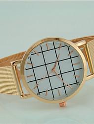abordables -Hombre Reloj de Moda Cuarzo Gran venta Aleación Banda Casual Negro Dorado Oro Rosa