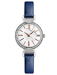 cheap -Skmei® Women's Dress Leather Strap Quartz Rhinestones Wrist Watch 30m Waterproof Assorted Colors