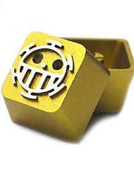 Transparent Metal Aluminum Alloy Keycap Set for Mechanical Keyboard Top Printed