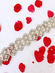 cheap -Acrylic Wedding Special Occasion Anniversary Birthday Party / Evening Sash With Rhinestone Imitation Pearl Appliques Sashes