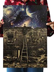 Недорогие -Сад Декор стены Мелованная бумага Винтаж Предметы искусства, Плакаты Украшение