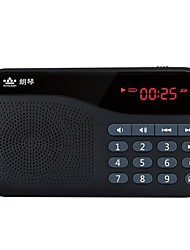 cheap -X5 FM Portable Radio Alarm Clock SD Card World Receiver Black / Red / Blue