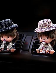 cheap -Car Air Purifiers Cartoon Car perfume Plastic Aromatic function Remove unusual odor