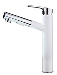 cheap -Art Deco/Retro Glam Elegant & Luxurious Centerset Ceramic Valve Single Handle One Hole Painting , Bathroom Sink Faucet
