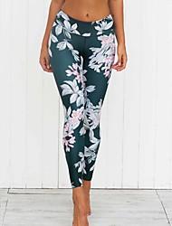 cheap -Women's Medium Print Legging,Print Fashion. Printing. close-fitting. Stretch pants,