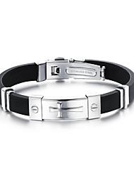 billige -Herre Wrap Armbånd Vintage Armbånd - Læder Armbånd Guld / Sølv Til Fest