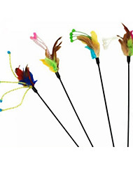 Cat Toy Pet Toys Teaser Feather Toy Stick Textile For Pets