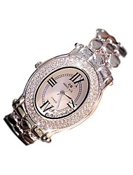 cheap -Women's Quartz Pave Watch Hot Sale Stainless Steel Band Casual Fashion Silver
