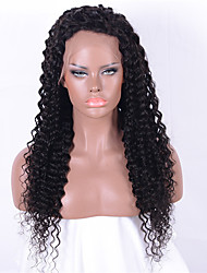 cheap -Popular and Fashion Long Kinky Curly Lace Front Wigs 130% Density for Women 100% Natural Black Color Brazilian Human Hair Extensions