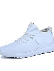 economico -Unisex Sneaker Suole leggere Estate Autunno Tulle Corsa Sportivo Casual Più materiali Lacci A quadri Piatto Bianco Nero Rosso chiaro