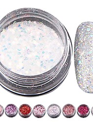 8 colors Nail Glitters powder mixed small sequined Kit jewelry Sequins Dust Powders Manicure Nail Art Decorations