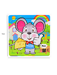 cheap -Jigsaw Puzzle Wooden Puzzles Educational Toy Mouse Fruit Other Wood Anime Cartoon 6 Years Old and Above