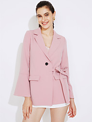 cheap -Women's Going out Casual/Daily Casual Sexy Spring Fall Blazer