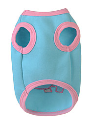 cheap -Dog Vest Dog Clothes Cartoon Pink Light Blue Woolen Down Costume For Pets Men's Women's Casual/Daily
