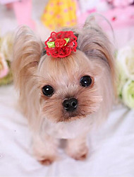 baratos -Cachorro Acessórios de Cabelo Roupas para Cães Sólido Fúcsia / Vermelho / Rosa claro Tecido Ocasiões Especiais Para animais de estimação Homens / Mulheres Casual