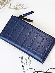 preiswerte -Damen Taschen PU Scheckheft Brieftasche für Veranstaltung / Fest Einkauf Alltag Normal Ganzjährig Militßrgrün Grau Aquamarin Purpur Rosa