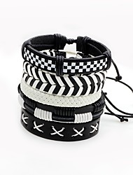 cheap -Men's Women's Wrap Bracelet Multi Layer Multi-ways Wear Leather Irregular Twist Circle Jewelry For Stage Street