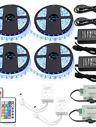 cheap -1 Set Led Strip Kit Waterproof 5050 20M(4*5M) 1200led with2PCS 24key Ir Controller and 2PCS 6A Power Supply(UL) with 2PcsRGB Signal Amplifier Repeater