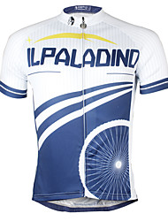 cheap -ILPALADINO Cycling Jersey Men's Short Sleeves Bike Jersey Top Bike Wear Quick Dry YKK Zipper Reduces Chafing Sweat-Wicking Solid Fashion