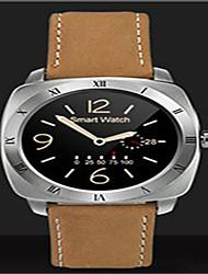 Муж. Смарт-часы Цифровой Кожа Группа Черный Коричневый Золотистый
