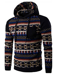 cheap -Men's Sports Street chic Long Sleeves Hoodie Print Hooded