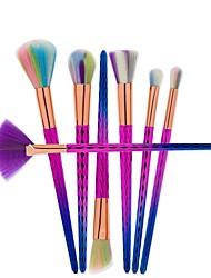 New Colorful Makeup Brushes 7 Pcs Rose Red Professional Synthetic Fiber Powder Eyeshadow Makeup Brush kits