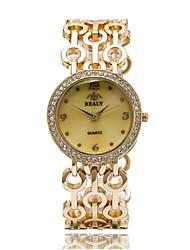 abordables -Hombre Mujer Reloj de Moda Cuarzo Gran venta Aleación Banda Casual Plata Dorado Oro Rosa